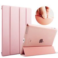 Case For IPad 2 3 4 Color PU Transparent Back Ultra Slim Light Weight Trifold Smart