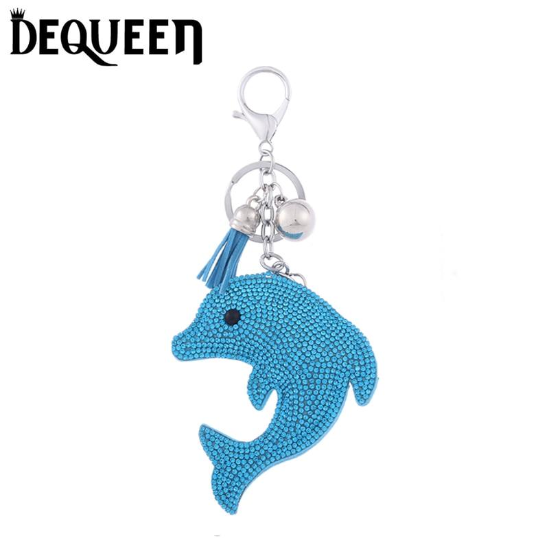 5 цветов прекрасный dophin брелок Хэллоуин украшения со стразами брелки для ключей подарок 1 шт./лот