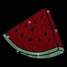 Free shipping (2pc/lot) Watermelon Slice Iron On Bling Transfer designs iron on transfer rhinestones fix  patches