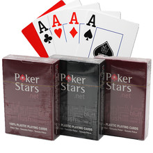 Poker stars Texas Holdem Plastic playing card game Waterproof Game Collection Cards and dull polish poker star Board games