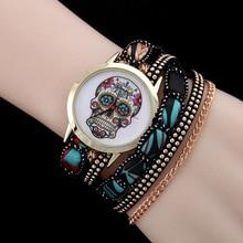 2016 New Fashion Ladies Rivet Punk Chain Belt Bracelet Watch Women Dress Watches Casual Analog Quartz For Clock AC12
