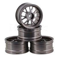 Mxfans Titanium Upgrade Aluminum Alloy Wheel Rims Y Shape Fit For RC1 10 On Road Racing