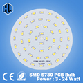 Free Shipping 3W 5W 7W 9W 12W 15W 18W 20W 24W 5630/ 5730 Brightness SMD Light Board Led Lamp Panel For Ceiling PCB With LED