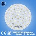 O Envio gratuito de 3 W 5 W 7 W 9 W 12 W 15 W 18 W 20 W 24 W 5630/5730 Brilho SMD Luz Painel de Led Board Lâmpada Para PCB Teto Com DIODO EMISSOR de luz