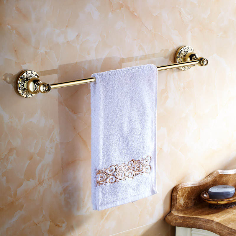 Towel Bars Antique Carved Home Decoration Wall Mounted Rose Gold Towel Hanger Bathroom Accessories Towel Holder 6201 цены онлайн