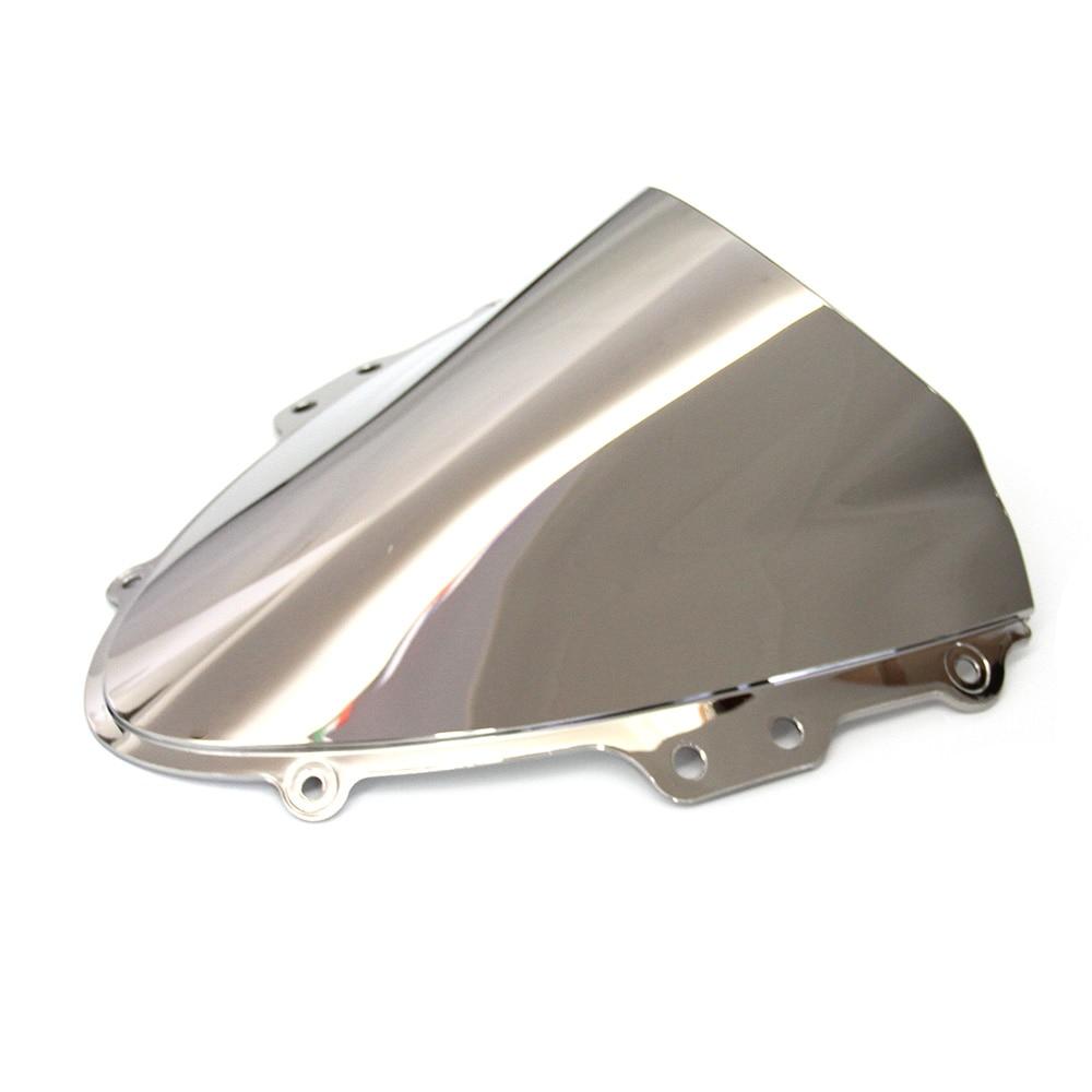 Motorcycle Part Double bubble Silver Windshield / Windscreen For Suzuki GSXR GSX R 600/750 K4 2004 2005