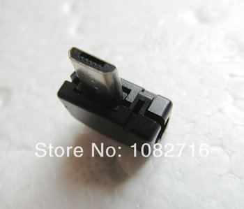 200 sets / pcs Black DIY 90 Left Angle USB b Micro male 5 pins Welding Plug Connector Socket with Plastic Cover , Free shipping