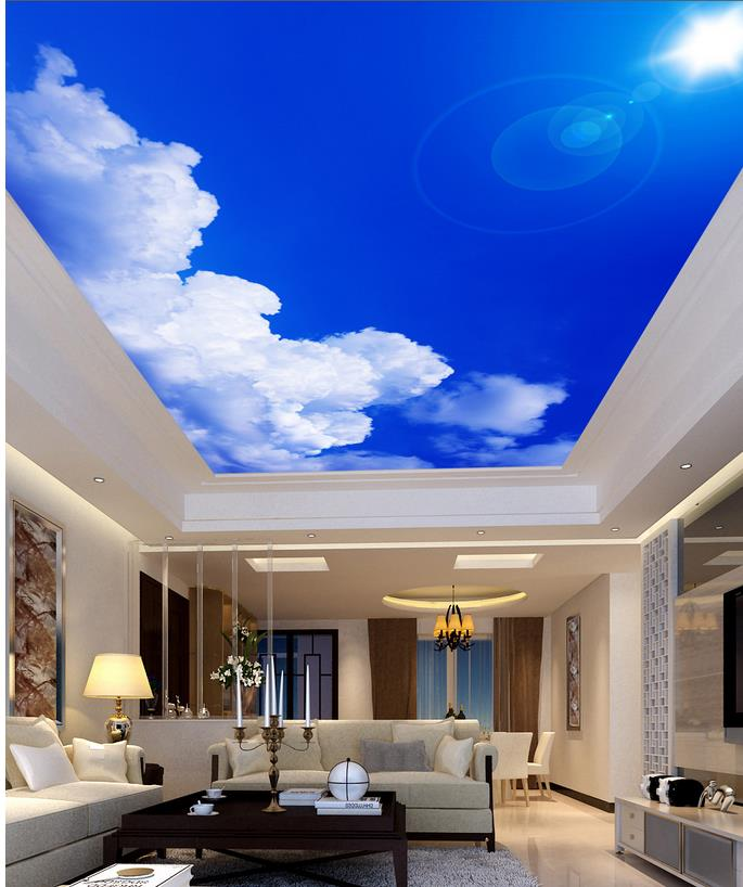 Online get cheap blue sunlight alibaba group for Cloud mural ceiling