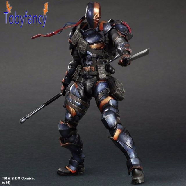 Batman Action Figure Deathstroke Play Arts Kai PVC Toys 270mm Anime Movie Model Bat Man Playarts Kai Deathstroke