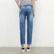 Tengo New Fashion Women High Waist Jeans Boyfriend Brand Female Harem Pants Women Casual Jeans Ripped Jeans for Women Plus Size