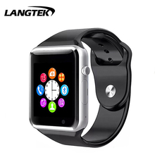Smart Watch A1 Passometer Fitness Zene Kihangosító Smartwatch SIM-kamerával iPhone Android Phone pk GT08 DZ09 Karóra