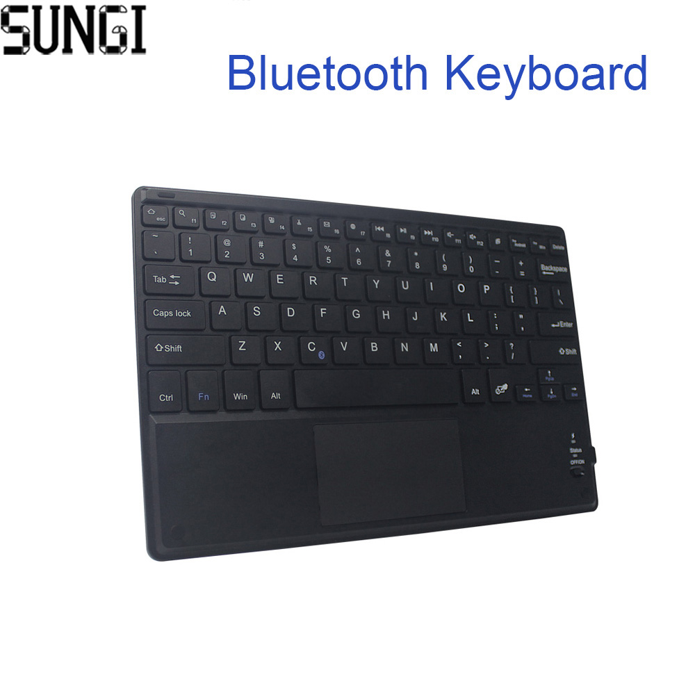 Mini Keyboard Wireless Bluetooth 3.0 Ultra Thin Multi-touch BT With Touchpad Keyboard For Tablet PC Laptop ipad Mobilephone ibk 02 ultrathin bluetooth v3 0 64 key keyboard w touchpad for cellphone tablet pc white