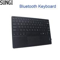 Mini Toetsenbord Draadloze Bluetooth 3.0 Ultra Dunne multi-touch BT Met Touchpad Toetsenbord Voor Tablet PC Laptop ipad Mobilephone