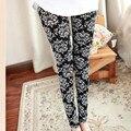 Multi Padrões Mulheres Skinny Legging Pant Stripe Grade Porcelana Lápis Geometria Legwear