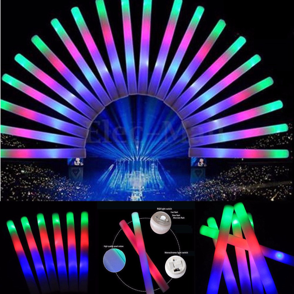Glow Pulgad Bulk Light Up LED vaht Stick Wand ralli poole Cheer Stick - Puhkusevalgustus - Foto 3