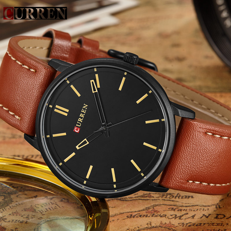 New Men Watch Curren Mens Watches Brand Luxury Leather Quartz Watch Male Fashion Casual Wristwatch Sport Clock Relogio Masculino new listing pagani men watch luxury brand watches quartz clock fashion leather belts watch cheap sports wristwatch relogio male