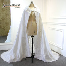2019 חדש סגנון פופולרי ארוך חתונה שכמיות חתונה אביזרי חתונת כורכת מעילי חתונת תמונות אמיתיות אמנדה Novias