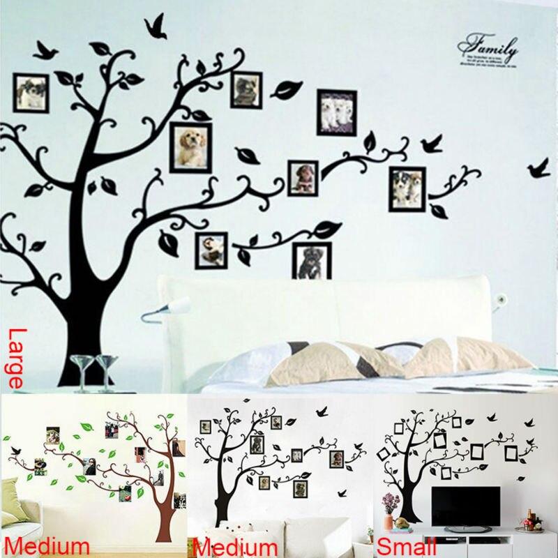 Фото дерево рамка семья навсегда памяти дерево настенные наклейки декоративные adesivo де parede Съемный ПВХ стикер стены diy zooyoo94AB