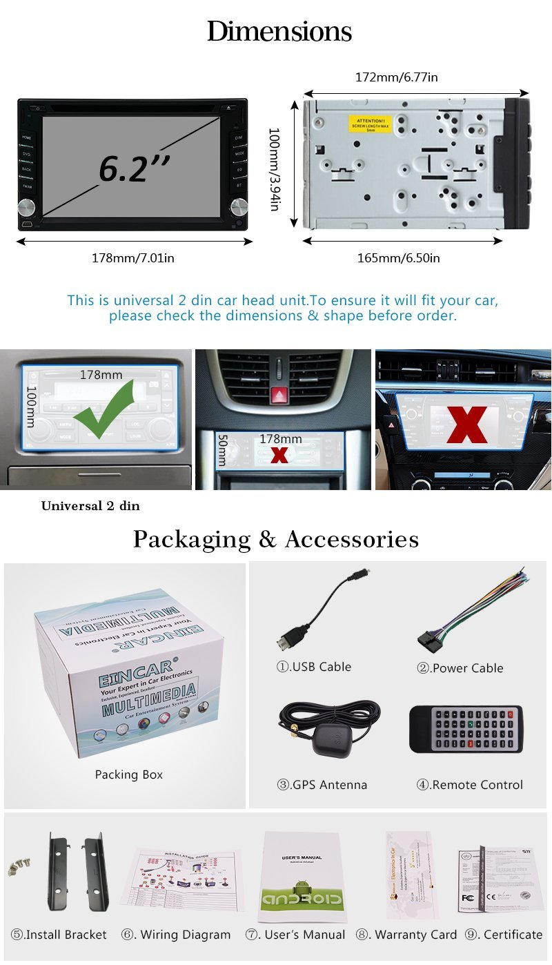 Car Tape Recorder Gps Dvd Player Android 60 Auto Radio Stereo 2 Wiring Diagram Din Head Unit Capacitive Screen Support Navigation Wifi In Multimedia