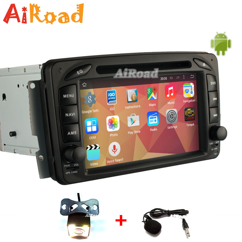 RK3188 Quad Core Pure Android 4 4 1024 600 Car PC Stereo Navigation for Benz C