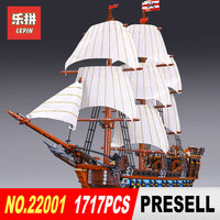 NEW LEPIN 22001 Pirate Ship Imperial Warships Model Building Kits Block Briks Boy Toys Gift 1717pcs