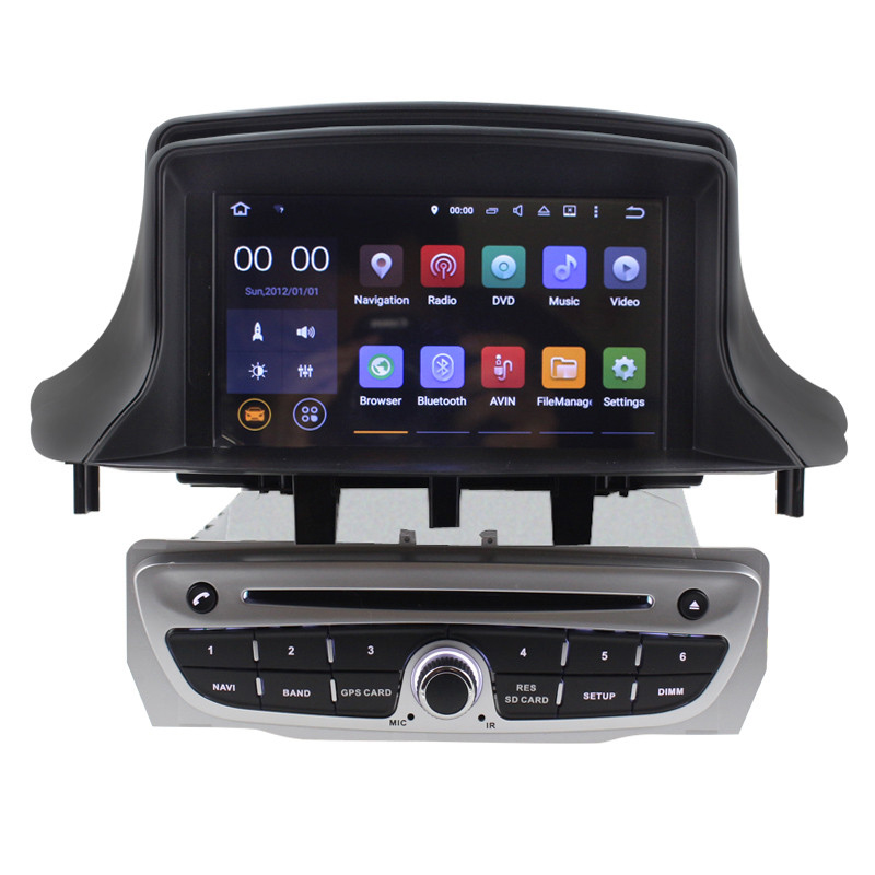 <font><b>Android</b></font> 7.1 2G Car DVD Player GPS Navigation for Renault <font><b>Megane</b></font> <font><b>3</b></font> Can Bus support steering wheel control RDS USB 3G BT Free map image