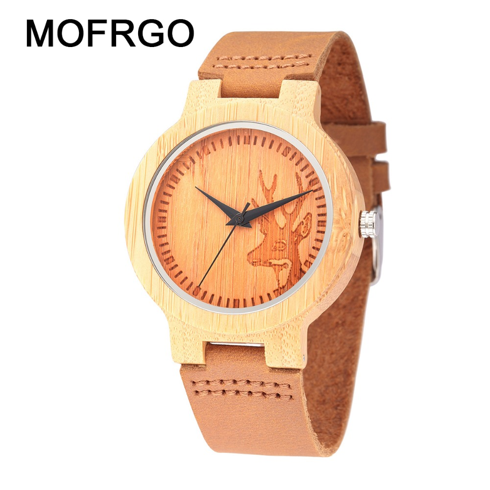 Bamboo Wood Watch For Men And Women Casual Hot Sale Quartz Watches With Genuine Leather Strap Relogio Masculino nature wood simple men bamboo watch cool casual genuine leather band strap wrist watches quartz women gift relogio masculino