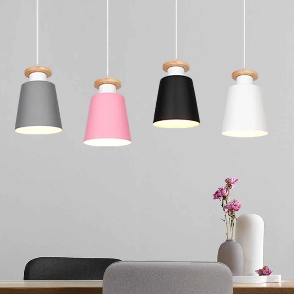 Подвесные светильники, столовая люстра, современный красочный Ресторан, кофе, спальня, освещение, железная твердая древесина, светодиодный подвесной светильник E27