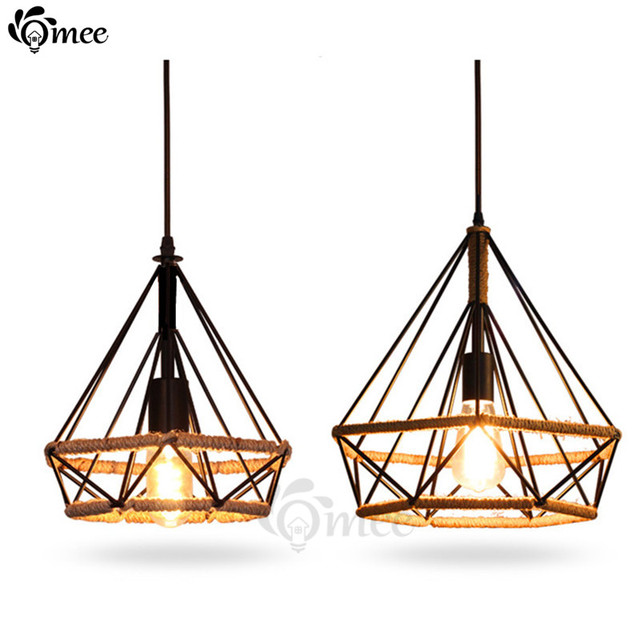 modern retro lighting. modern birdcage pendant lights rope diamond iron minimalist retro lighting scandinavian loft led pyramid lamp metal e