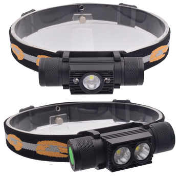 LED USB XML 2x L2 Headlight Waterproof Head Flashlight Torch Portable LED Head Lamp 18650 Rechargeable Outdoor Light Camping