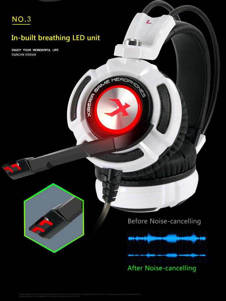 игровые наушники 7.1 звуковая vibrate за ухо подвязки наушники USB кабель с микрофон стерео ноутбук Bus бренд xiberia К3