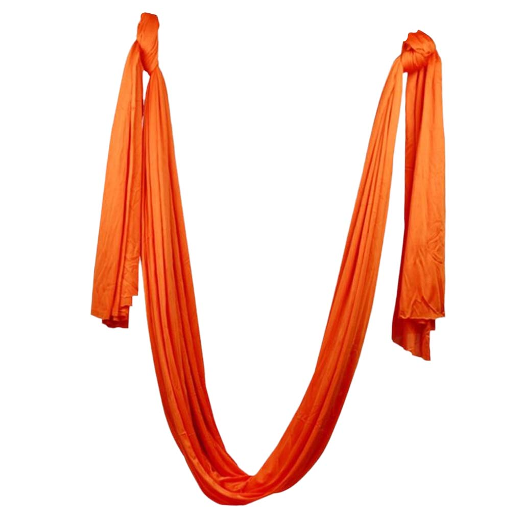 Fitness & Body Building Audacious Magideal 5 X 2.8m Anti-gravity Yoga Swing Hammock Aerial Inversion Strap Orange Inversion Tool Anti-gravity Yoga Swing High Quality