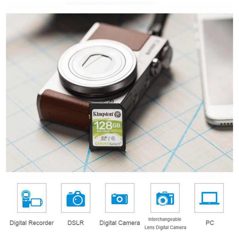 بطاقة ذاكرة كينغستون مايكرو SD 16GB 32GB 64GB 128gb بطاقة ذاكرة تصل إلى 80 برميل/الثانية Class10 UHS-I U1 SDS SDHC SDXC بطاقة كارت للكاميرا