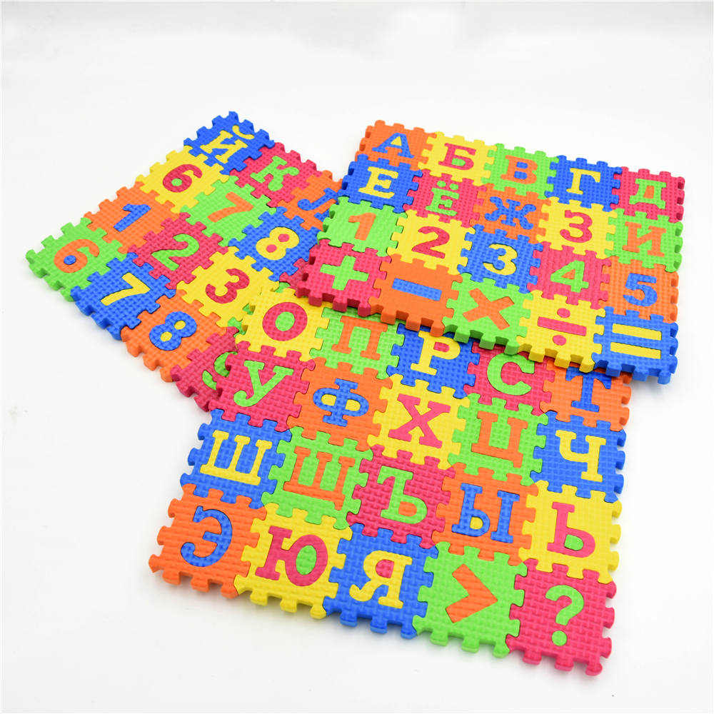 Hot Sell Russian Alphabet Letter Toys Kids Baby Puzzle