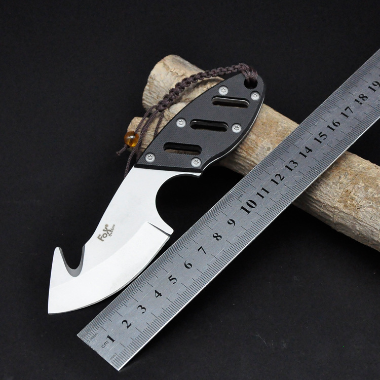 New Fox Fixed 440C Blade font b Knife b font Camping Survival font b Knives b
