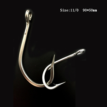 CN02 15 pieces 11/0 Mustad Fishing Hook Stainless Steel Fishing Hook Jigging Fishing Hook Big Hook For Fishing