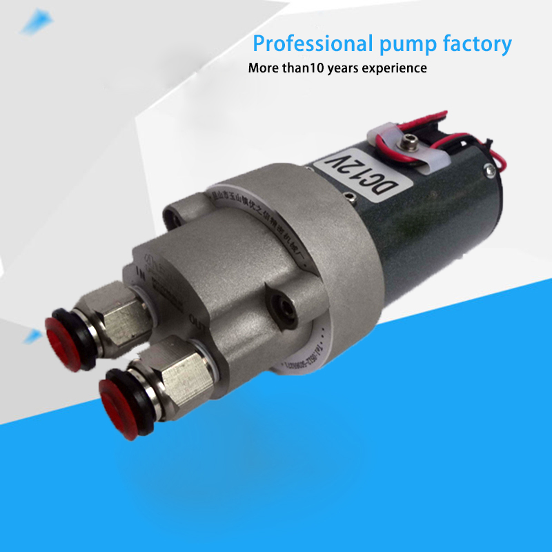 12V Micro Self-suction Gear Oil Pump DC Waster Oil Transfer Pump mpx08 micro liquid gear pump w silicone tube white dc 5v