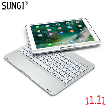 Slim Bluetooth Keyboard with 360 Degree Rotating Case Cover for iPad Pro 10.5 Breathing Light Keyboard Bluetooth for Tablet
