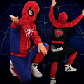 100% Cotton Spiderman Costume Halloween Cosplay Kids Clothes Hooded Outfit Boys Clothing Set Christmas Gift TZ09