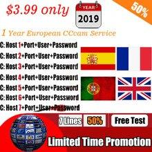 Лучшие Cccam 7 линий для 1 год Европейский Франция Португалия Испания CCccam HD сервер для Freesat GTmedia V7S HD V8 Nova DVB S2 приемник