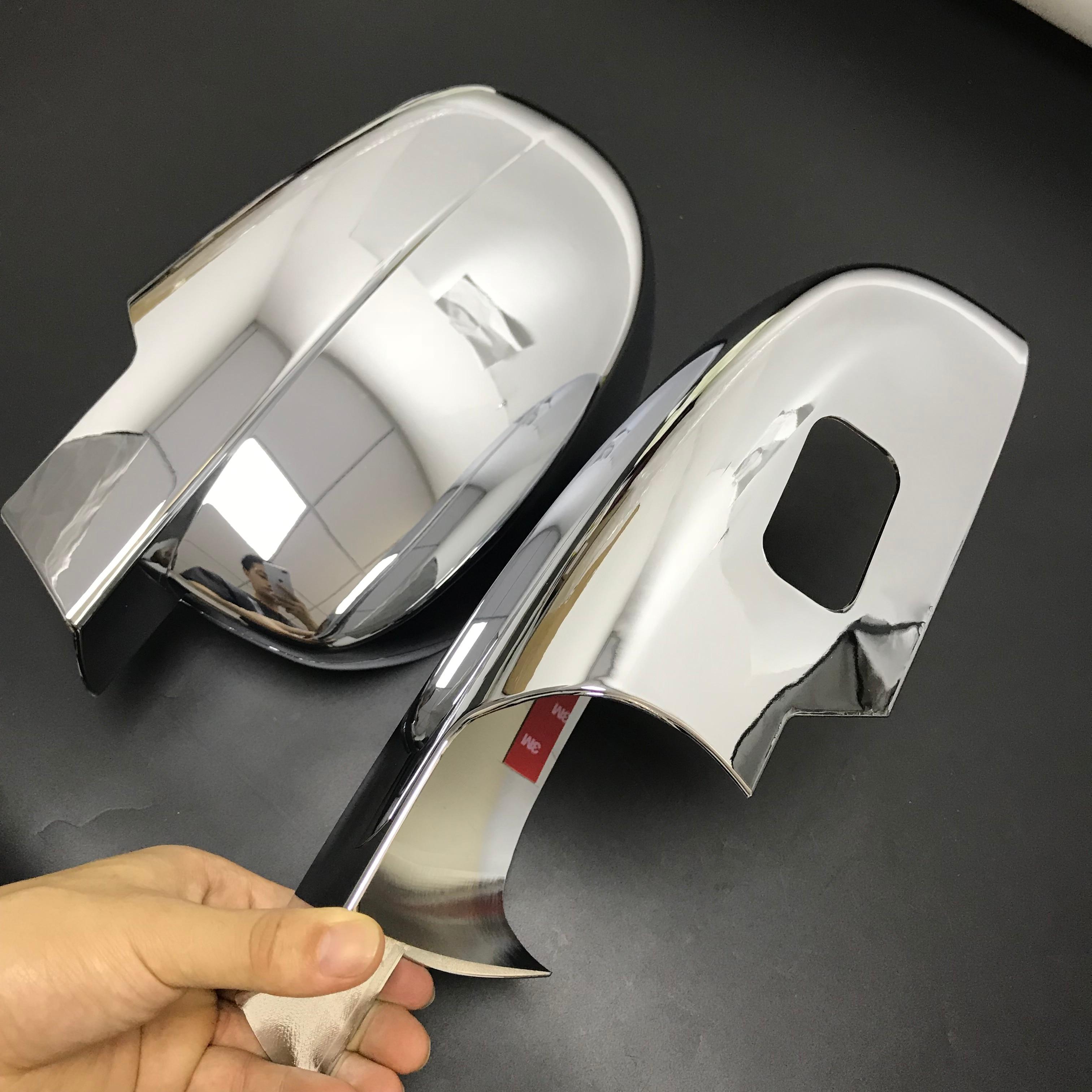 Estilo do carro 2x Chrome Silver Mirror Capa Tirms Para Chevrolet Tahoe GMC 2008 2009 2010 2011 2012 2013 2014 modelos