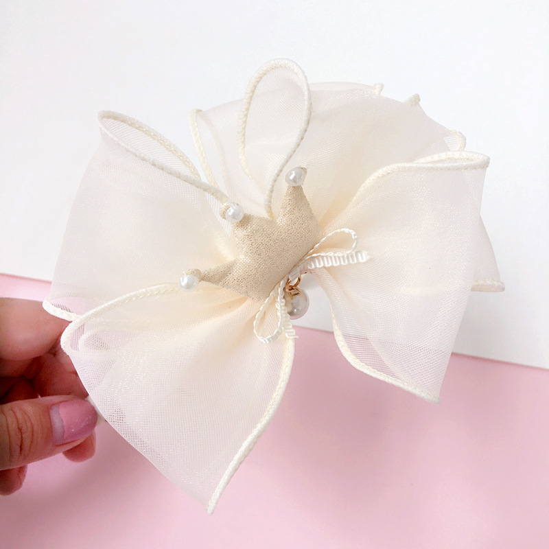 Korea Lovely Pearl Crown Flower Hair Accessories For Girls High Quality Hair Band Headband Hair Bow Princess 4 in Hair Accessories from Mother Kids