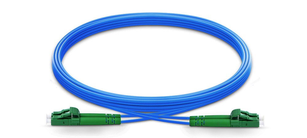 1m 2m 3m LC APC to LC APC Duplex Single Mode Armored PVC (OFNR) Patch Cable, Cable Jumper-in Fiber Optic Equipments from Cellphones & Telecommunications