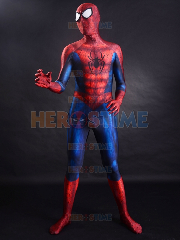Classic Spider-man costume 3D Printing Spandex Anime Superhero Spiderman Cosplay Suit Halloween Party Zentai Bodysuit Adult/Kids