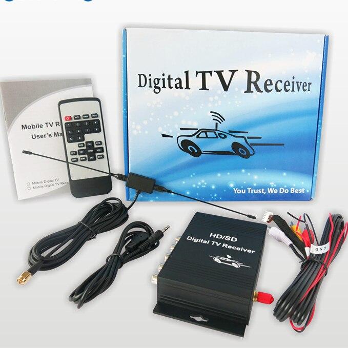 Tuner de télévision de voiture numérique ISDB-T 250 km/h ISDB T voiture de télévision pour le brésil/amérique du sud ISDB-T de voiture récepteur de Tuner de télévision numérique Mobile