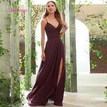 LEIYINXIANG 2019 Prom Dress Nuevo Vestido de Noche Largo Piso Longitud La Sirena Que Rebordea Lentejuelas Sexy A-Line V-Neck