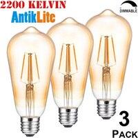 AntikLite E26 110 120 Volts 60 75 W Equal Incandescent Style 8 Watt ST64 ST21 Nipple
