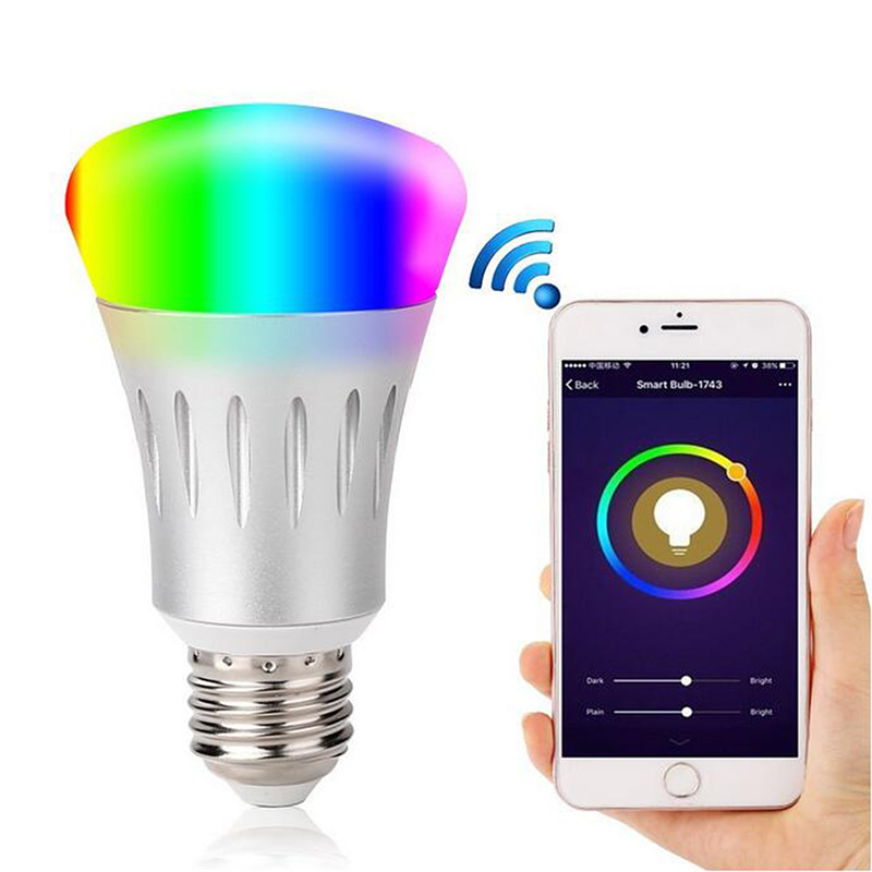 E27 Smart LED Bulb For Home Wireless Wifi Smart Power Timer Switch Remote Control Work For Amazon Alexa Voice APP By Phone smart bulb wifi e27 rgb dimmable led lamp phone app remote control voice control works with amazon alexa and google home