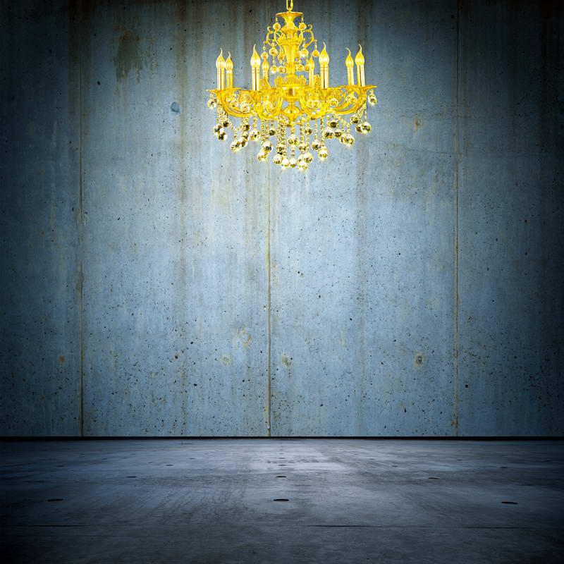 xft oro lmpara de luz azul pizarra panel de pared de la sala de fondo de