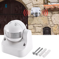 White Outdoor Degree Security PIR Motion Movement Sensor Detector Switch Energy Saving Induction Switch